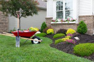 wheel barrow landscaping