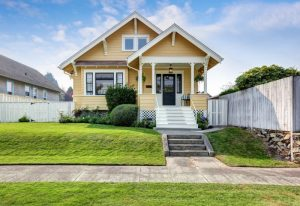 yellow craftsman home