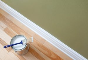 paint on the floor with a glossy finish